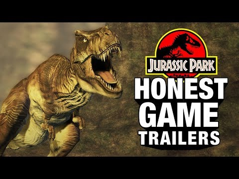 JURASSIC PARK GAMES Feat. Jeff Goldblum (Honest Game Trailers)