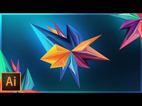 How to Make Abstract Facets | Adobe Illustrator Tutorial