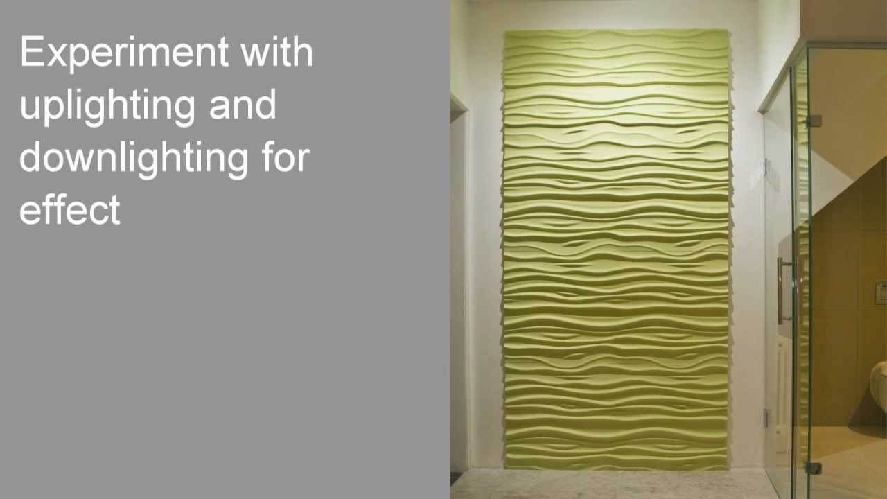 How to Install 3D Textured Wall Panels - YouTube