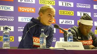 11/08/17 - Long Jump Press conference - Darya Klishina (1080p HD)
