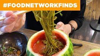 Watermelon RAMEN at Mokbar 🍉🍜 | Food Network