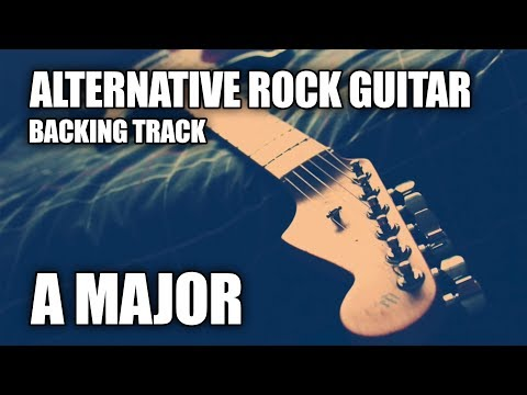Alternative Rock Guitar Backing Track In A Major