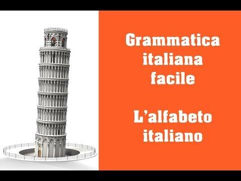 Grammatica Italiana L Alfabeto Italiano Youtube