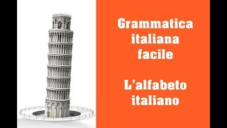 Grammatica italiana - L'alfabeto italiano
