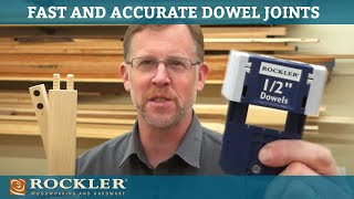 Easy and Accurate Dowel Joints   Rockler Innovation