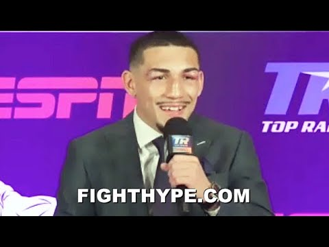 TEOFIMO LOPEZ FULL POST-FIGHT AFTER BEATING LOMACHENKO; HOLDS NOTHING BACK ON 'TALK MY SHIT' WIN