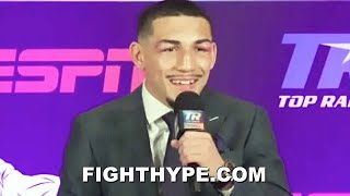 "TEOFIMO LOPEZ FULL POST-FIGHT AFTER BEATING LOMACHENKO; HOLDS NOTHING BACK ON ""TALK MY SHIT"" WIN"