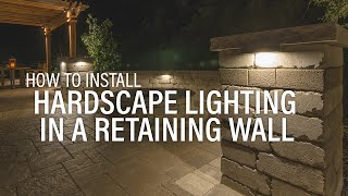 VOLT® University | Undercover Hardscape Light | landscape lighting installation