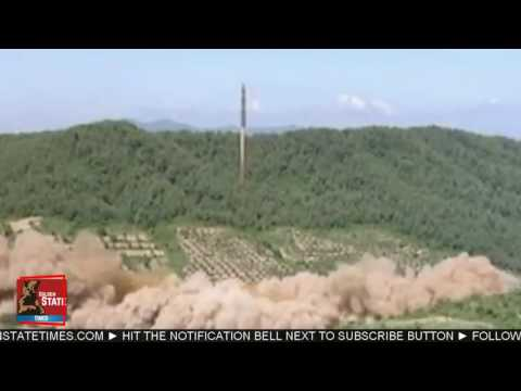 RAW FOOTAGE: North Korea Tests new Intercontinental Ballistic Missile Fired on July 4th 2017