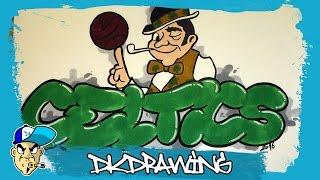How to draw a boston celtics graffiti (NBA Graffitis)