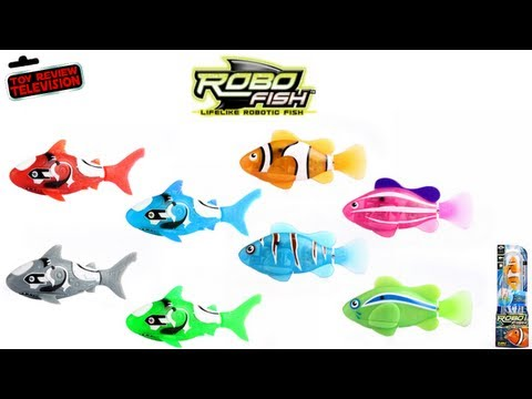 ROBO FISH Lifelike Robot Shark Swimming Pet Aquarium Toy Review Robotic Toys Family Video