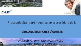 CIRCONCISION CHEZ L'ADULTE - VIDEO ÉDUCATION 2013 FRANCAIS - Dr. ZORN