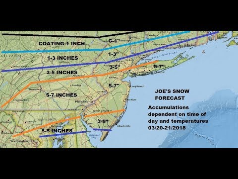 SPRING WINTER STORM TUESDAY WEDNESDAY MIDDLE ATLANTIC SOUTHERN NORTHEAST US