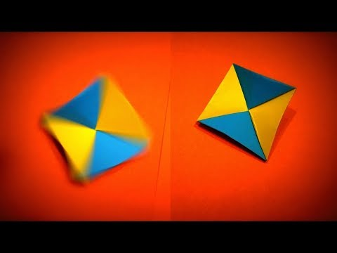 How to Make a Paper Spinner DIY | Easy Origami ART | Paper Crafts