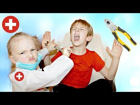 СТОМАТОЛОГ ! Играем в ДОКТОРА Видео для детей