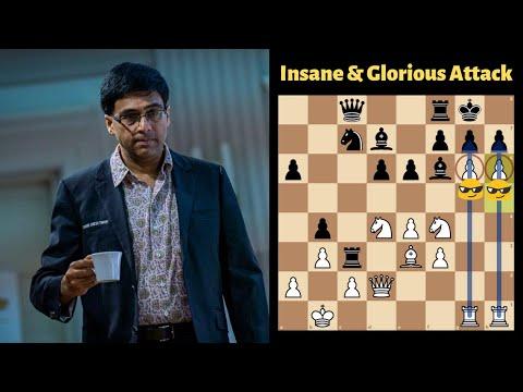 Glorious & Insane Attack by Viswanathan Anand   Vishy Anand vs Jan Timman