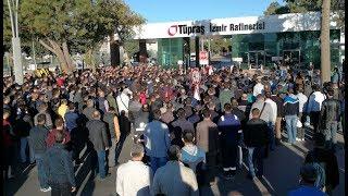 Aliağa'da Tüpraş'taki patlama ile ilgili eylem