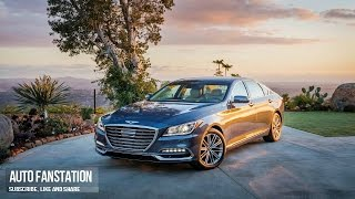 FIRSTDRIVE 2018 Genesis G80 3.8 liter V6 engine Full Review