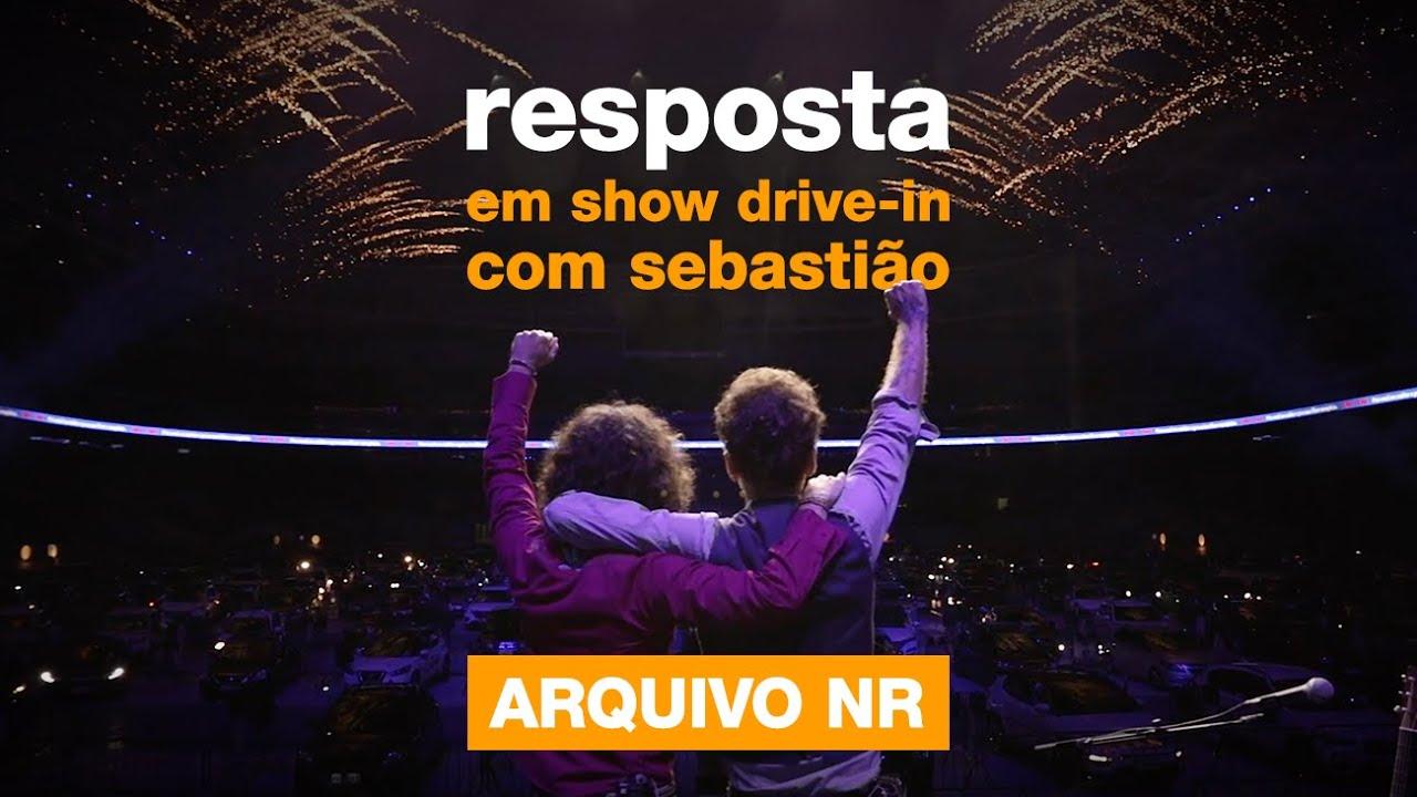 """Nando e Sebastião Reis - """"Resposta"""" no show Drive-In de São Paulo - Arquivo NR"""