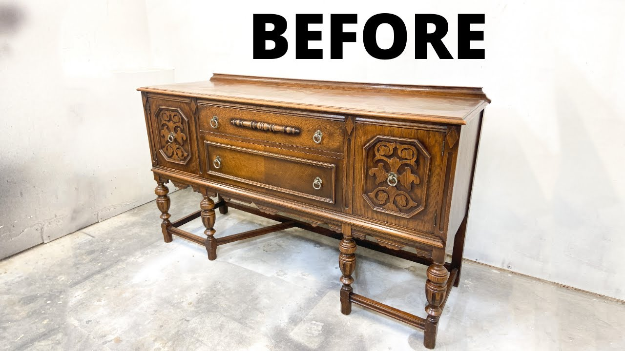 How to Refinish A Wooden Buffet for Beginners