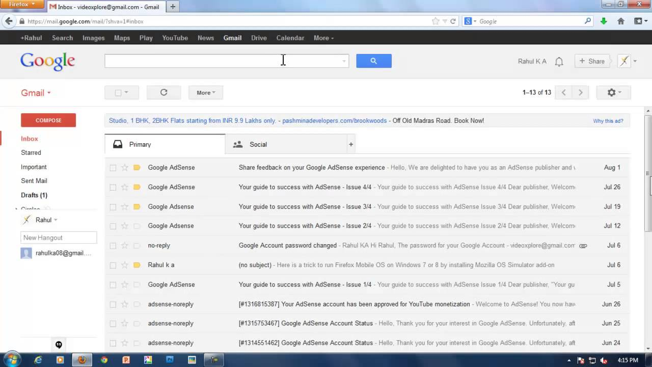 how to tab in gmail