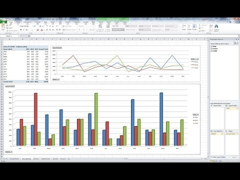 MS Excel - Pivot Table and Chart for Yearly Monthly Summary