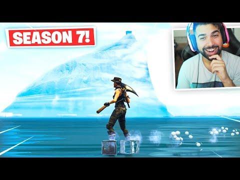 Visiting THE ICEBERG in Fortnite.. (Season 7)