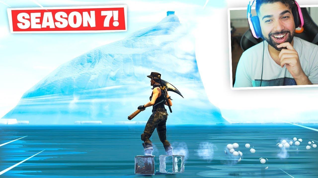 Visiting The Iceberg In Fortnite Season 7 Youtube