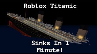 Roblox Titanic sinkt in 1 Minute!