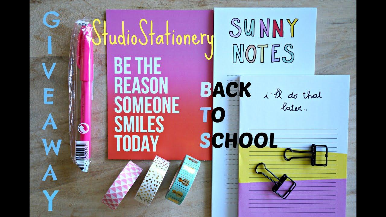 Winactie Studio Stationery : Back to school studio stationery winactie gesloten youtube