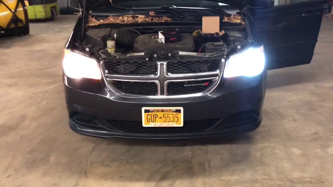 Dodge Led Headlights >> 2014 Dodge Grand Caravan: LED Headlight install - YouTube