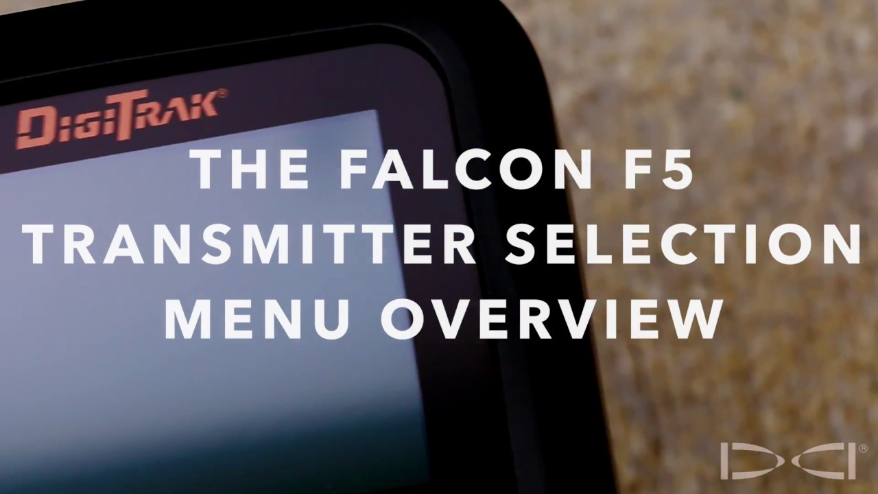 DigiTrak - Falcon F5 Training- Transmitter Selection and Frequency  Optimization
