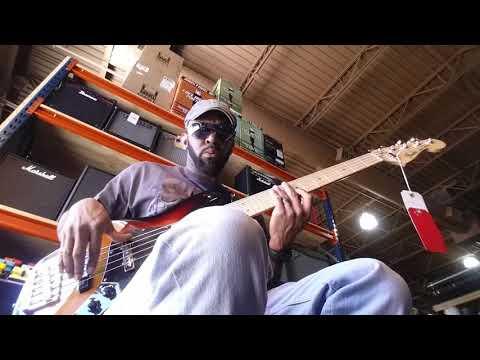 Sam Johnson bass player Tampa music store(5)