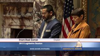 MN Senate Opening Invocation Prayer March 25, 2015 - Imam Asad Zaman