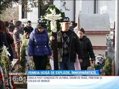 Femeia ucisă de explozia devastatoare din Călăraşi a fost condusă pe ultimul drum