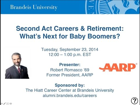Second Act Careers & Retirement: What's Next for Baby Boomers