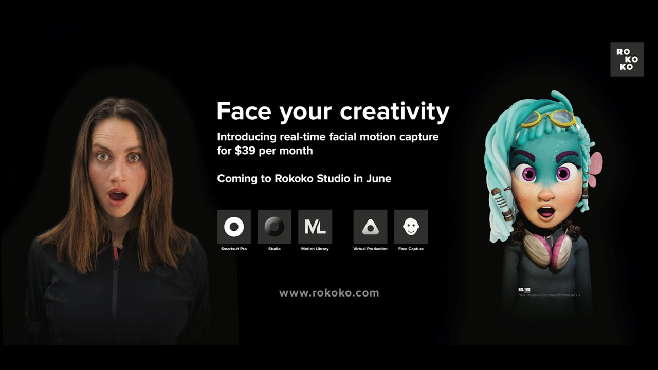 Rokoko's facial motion capture solution is here!