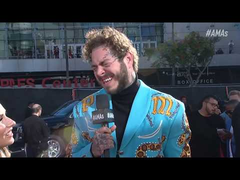 Post Malone Red Carpet Interview - AMAs...
