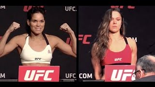 Ronda Rousey vs Amanda Nunes - UFC 207 Official Weigh-in