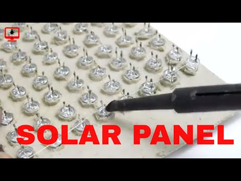 How to make Solar Panel/Solar Cell at home (FREE ENERGY 100%) using LED