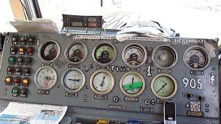Из кабины электровоза ВЛ80Т-905(Видео из кабины электровоза ВЛ80Т-905 (приписан ТЧЭ-14 Сальск С-КАВ), следование под состав грузового поезда..., 2015-01-16T15:00:07.000Z)