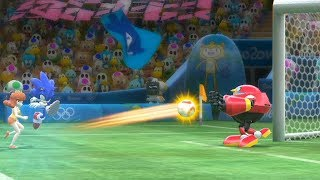 Mario and Sonic at The Rio 2016 Olympic Games Football Sonic vs Metal Sonic , Jet