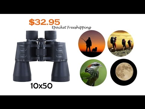 Cheap 10x50 Binocular Astronomy Telescope for Stargazing Bird Watching Review Бинокль Астрономия