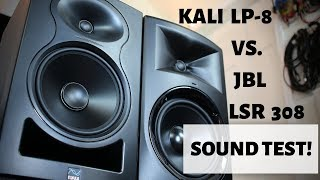 kali Audio LP-8 vs. JBL LSR308 Sound Test Comparison Shootout!