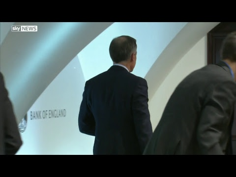 Governor of the Bank of England holds press conference