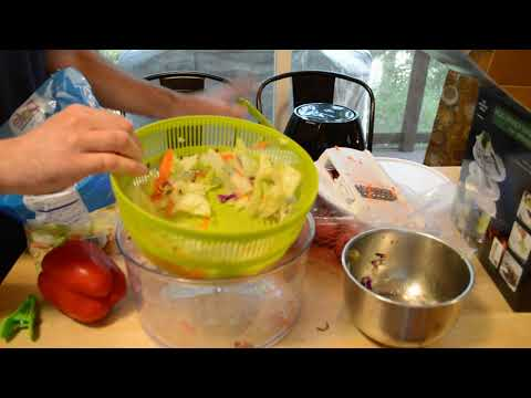The Sharper Image Salad Spinner Mandoline 4 In 1 Gadget Review Youtube