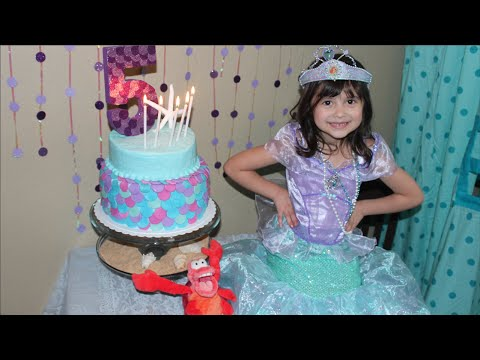 Disney S The Little Mermaid Birthday Party 5th Birthday