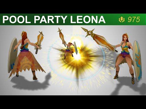 Pool Party Leona Skin Spotlight 2020 | SKingdom - League of Legends