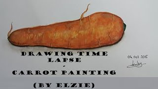 Drawing Time Lapse // Carrot Painting (By Elzie)