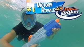FORTNITE X NERF'S TECHNICAL SEA IN REAL LIFE UNDER EXTREME SCUNDERING WATER